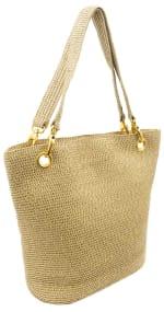 Metallic Straw Shoulder Bag - 1