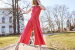 Nicole Jewel Neck Wrap Jumpsuit - 4