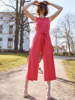Nicole Jewel Neck Wrap Jumpsuit - 3