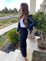 Black Maxi Skirt With Foldover Waistband - 3