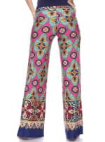 Arabian Nights Print Wide Palazzo Pants - 2