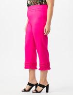 Pull on Crop Pants with Novelty Fringe Hem - 2