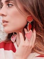 2 Red Heart Earrings - 3