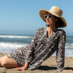 Tess BluCotton Pintuck Beach Cover Up - 2