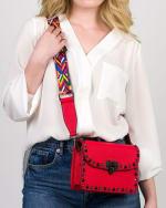 Mersi Ruby Studded Crossbody - Vegan Leather - 3
