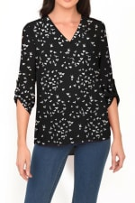 DR2 Casual Long Sleeve V-Neck Top - 1