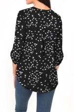DR2 Casual Long Sleeve V-Neck Top - 2