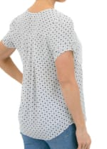 DR2 Casual Short Sleeve V Neck Top - 2