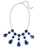 Carol Dauplaise Blue Short Collar Necklace - 1