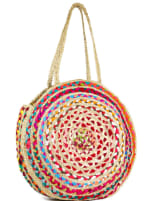 Straw Beach Tote Extra Large Straw Circle Tote - 1