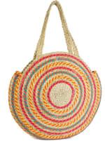 Woven Straw Jute Circle Shoulder Bag - 3
