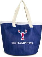 The Hamptons Insulated Logo Straw Tote - 1