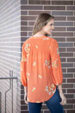 """Embroidered """"To Tie Or Not To Tie"""" Button Front Shirt - 2"""