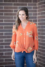 """Embroidered """"To Tie Or Not To Tie"""" Button Front Shirt - 1"""