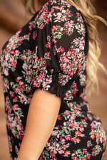 Roz & Ali Floral Peasant Blouse - Plus - 3