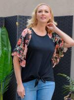 Westport Floral Mix Media Top - Misses - 5