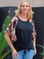 Westport Floral Mix Media Top - Misses - 1