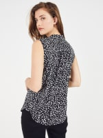 Roz & Ali Painted Dots Sleeveless Popover - 2