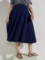 Tasmin Flare Floral Midi Skirts - 45
