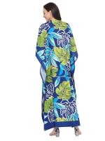 Blue & Green Maxi Kaftan Dress - Plus - 2
