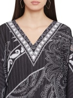 Printed Polyester Kaftan Dress - Plus - 3