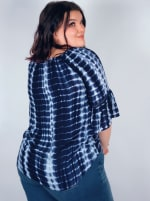 """Westport Tie Dye """"On And Off The Shoulder"""" Blouse - Plus - 2"""