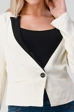 KAII Women Color Blocked Crepe Fashion Blazer - 9