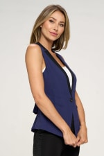 KAII Women Color Blocked Crepe Fashion Vest - 9