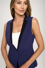 KAII Women Color Blocked Crepe Fashion Vest - 8