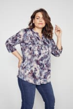 Roz & Ali Batik Tie Dye Popover - Plus - 4