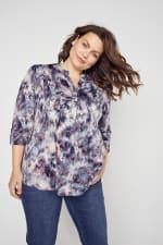 Roz & Ali Batik Tie Dye Popover - Plus - 3