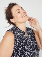 Roz & Ali Painted Dots Sleeveless Popover - Plus - 7