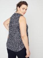 Roz & Ali Painted Dots Sleeveless Popover - Plus - 8