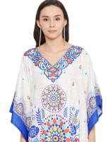 Free-Flowing  Polyester Kaftan Dress - Plus - 3