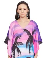 Wide Sleeves Polyester Kaftan Dress - Plus - 2
