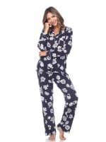 Long Sleeve Floral Pajama Set - 10