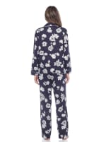 Long Sleeve Floral Pajama Set - 8