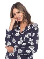 Long Sleeve Floral Pajama Set - 9