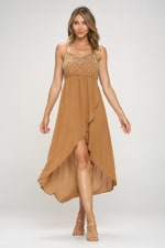 KAII Beaded Embellishment Hi Low Dress - 4