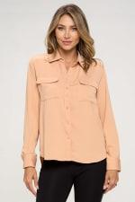 KAII Women Pinched Collar Shirt - 1
