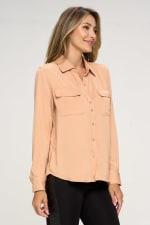 KAII Women Pinched Collar Shirt - 2