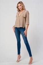 KAII High Low Silk Trench Shirt - 4