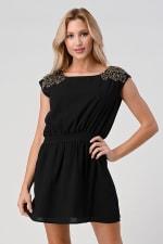 KAII Beaded Shoulder Embellishment Tunic Dress - 1