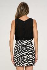 KAII Zebra Bottom Jacquard Dress - 2