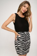KAII Zebra Bottom Jacquard Dress - 4