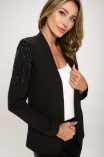 KAII With Stone Accented Sleeves Blazer - 5