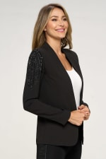 KAII With Stone Accented Sleeves Blazer - 4