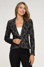 KAII Allover Stripe Lace Jacket - 3