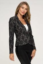 KAII Allover Stripe Lace Jacket - 4