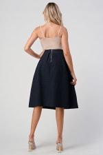 KAII Pleated Waist Mid Length Puffy Skirt - 5